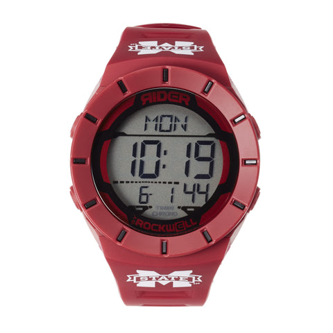Mississippi State Bulldogs Rockwell Coliseum Digital Sport Watch - Maroon