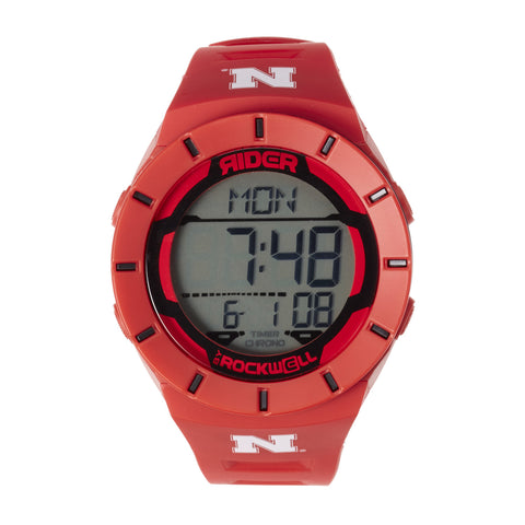 Nebraska Huskers Rockwell Coliseum Digital Sport Watch - Red