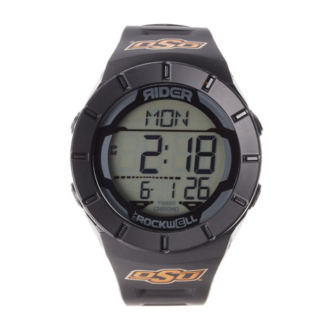 Oklahoma State Cowboys Rockwell Coliseum Digital Sport Watch - Black