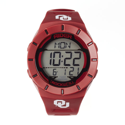 Oklahoma Sooners Rockwell Coliseum Digital Sport Watch - Crimson