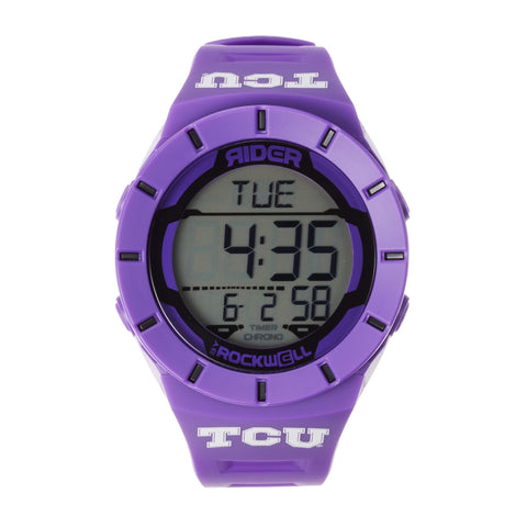 TCU Horned Frogs Rockwell Coliseum Digital Sport Watch - Purple
