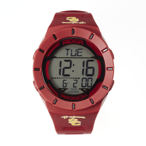 USC Trojans Rockwell Coliseum Digital Sport Watch - Crimson