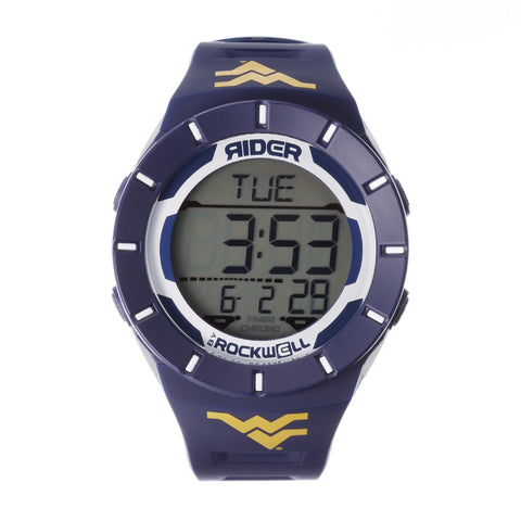 West Virginia Mountaineers Rockwell Coliseum Digital Sport Watch - Navy