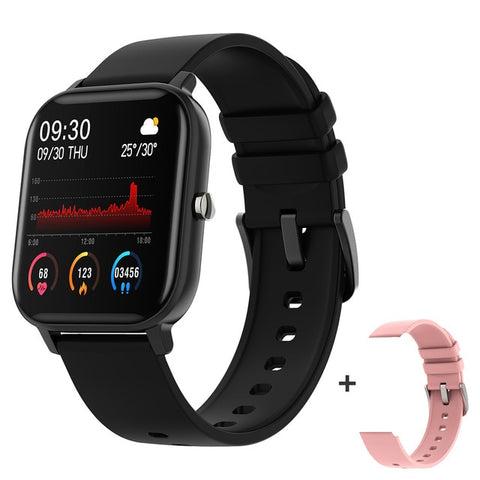 P8 1.4 inch Smart Watch Men Full Touch Fitness Tracker Blood Pressure Smart Clock Women GTS Smartwatch