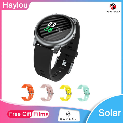 Haylou Solar LS05 Smart Watch Sport Metal Case Heart Rate Sleep Monitor IP68 Waterproof 30 Day Battery iOS iPhone Android xiaomi