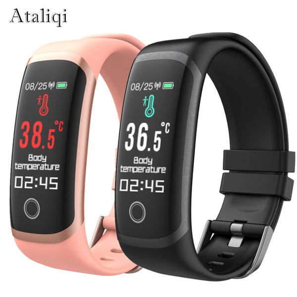 Smart bracelet watch Thermometer blood pressure measurement Sport wristband Activity Fitness Tracker Smart Band For Android IOS