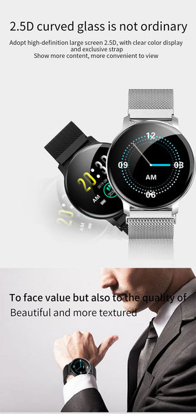 Caridite Newest Product Body Temperature Smart Watch Bracelet Waterproof Man Relojes Inteligente Bluetooth Smartwatch Sport Band