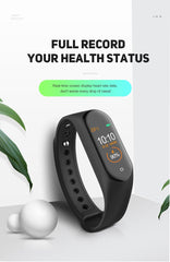 M4 Color Screen Smart Wristband Heart Rate Monitor Fitness Activity Tracker Smart Band Blood Pressure Music Remote Control