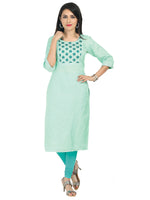 Irina Caroline Light Green Colour Net Kota Kurti