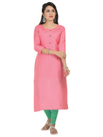 Irina Bronze Pink Colour Cotton Silk Kurti