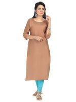 Irina Bronze Beige Colour Cotton Silk Kurti