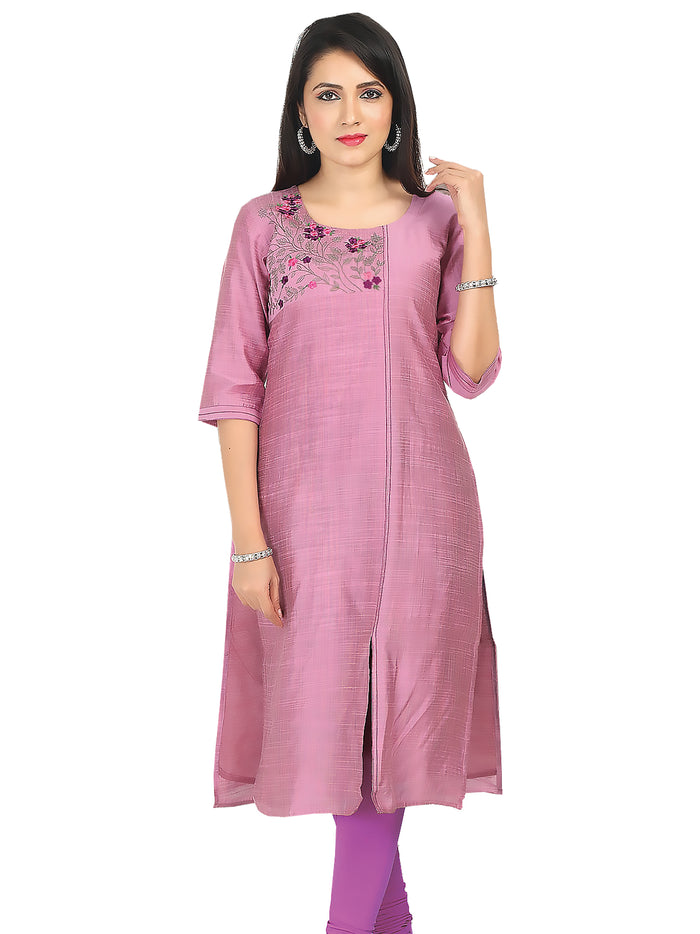 Irina Camila Light Purple Colour Cotton Silk Kurti