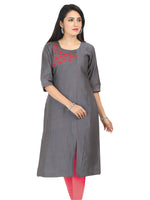 Irina Camila Grey Colour Cotton Silk Kurti
