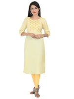 Irina Caroline Baby Yellow Colour Net Kota Kurti
