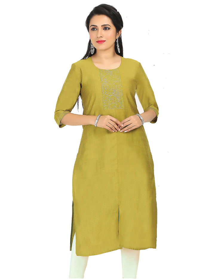 Irina Cynthiya Green Colour Cotton Silk Kurti