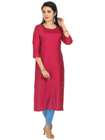 Irina Golden Dark Pink Colour Cotton Silk Kurti