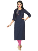 Irina Honey Blue Colour Cotton Flex Kurti