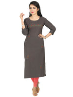 Irina Honey Ash Colour Cotton Flex Kurti