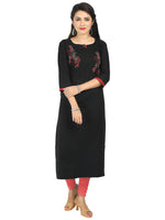 Irina Honey Black Colour Cotton Flex Kurti
