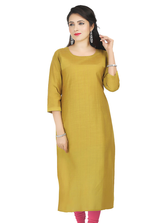 Irina Silver Golden Colour Cotton Silk Kurti