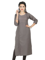 Irina Sofia Grey Colour Poly Cotton Kurti