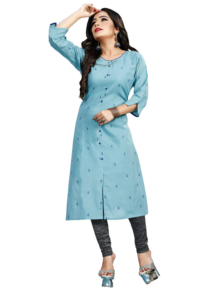 Irina Vol 02 Lite Blue Colour Cotton Kurti