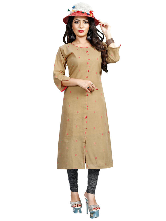 Irina Vol 02 Beige Colour Cotton Kurti