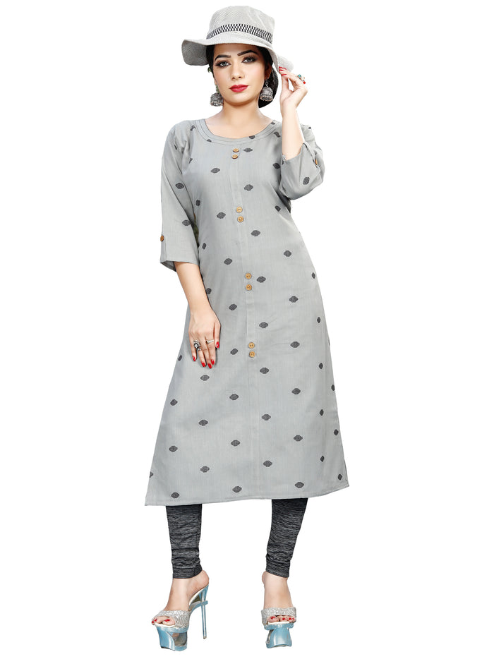 Irina Vol 02 Ash Colour Cotton Kurti