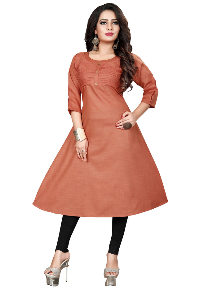 Irina Vol 03 Brown Colour Poly Cotton Kurti