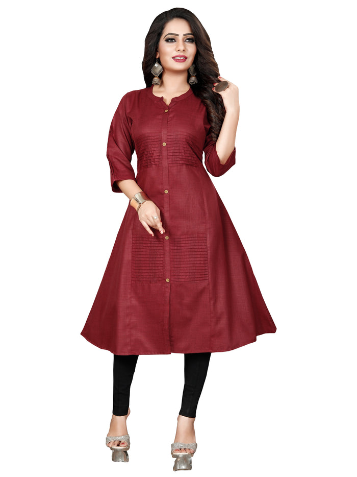 Irina Vol 03 Maroon Colour Poly Cotton Kurti