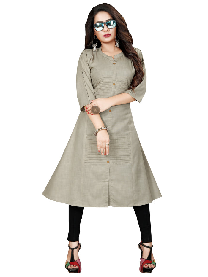 Irina Vol 03 Ash Colour Poly Cotton Kurti