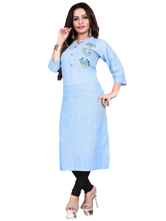 Irina Vol 05 Lite Blue Colour Cotton Kurti