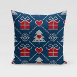 Blue Sweater Pillow Cover