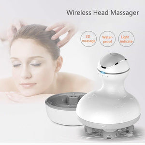 New 3D waterproof Electric Head Massager