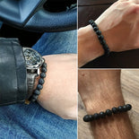Natural Volcanic Lava Stone Beads Bracelets Aromatherapy Essential Oil Diffuser Bangle 3 Sizes