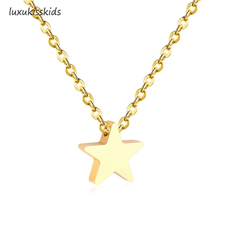 Heart And Star Pendants Necklaces Stainless Steel Necklace