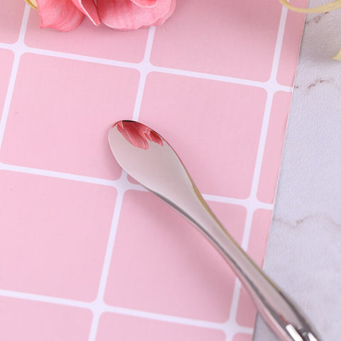 Alloy Metal Cosmetic Spatulas Facial Mask Spoon Eye Cream Mixing Spatula Scoop Anti Wrinkle Massage Sticks Makeup Tools 2 Sizes