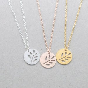 Minimalist Life Tree Pendant Necklace Vintage