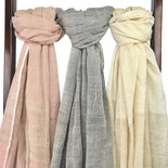 Gray Organic Cotton Gauze Scarf