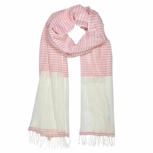 Airy Cotton Stripe Scarf