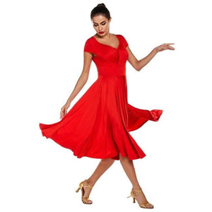 2020 new woman Latin dance dress adult ballroom dance Big swing skirt high quality dance costume