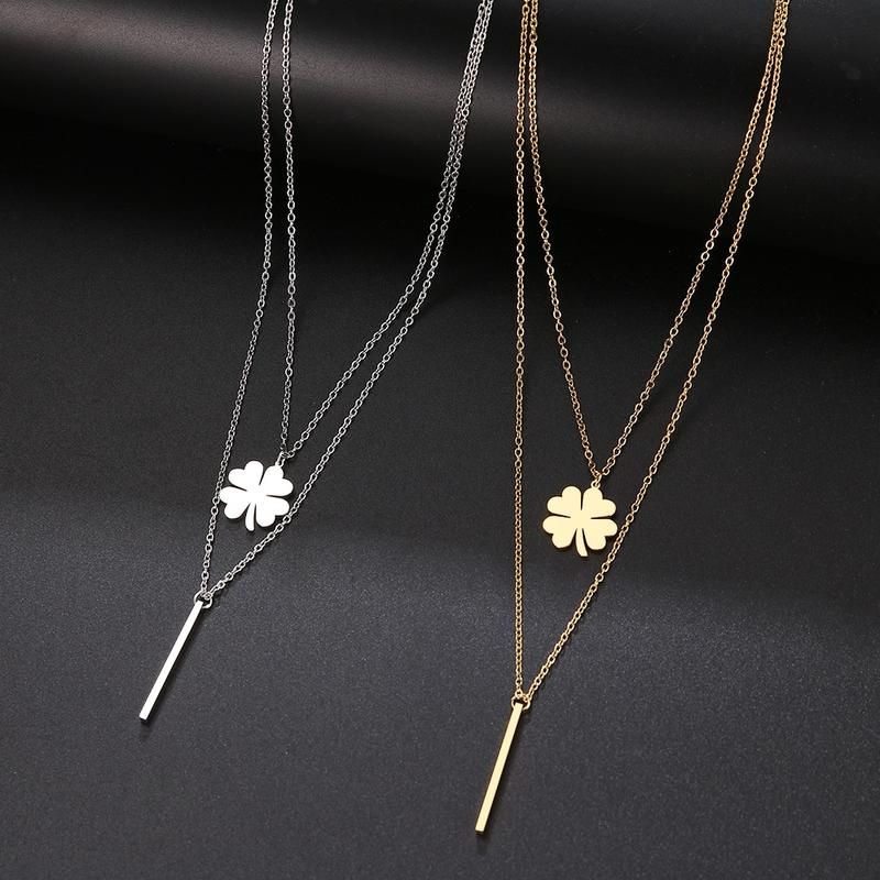 Multilayer Fashion Stainless Steel Neckless