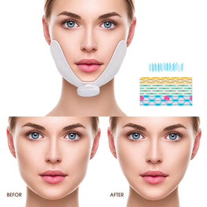 EMS Face Lifting Massager Electronic Pulse Muscle Stimulator V Face Slimming Exerciser With Gel Pads Facial Skin Lift Tools