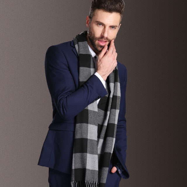 Europe Fashion Cotton Shawl Scarves Men