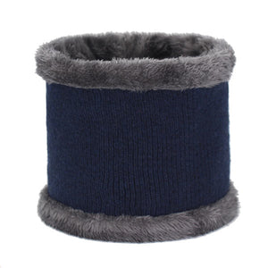 Men Wool Coral Fleece Knitted Hats Scarves