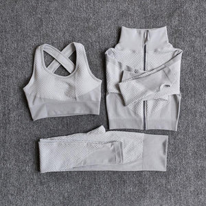3 Pics Women Fitness Sport Yoga Suits