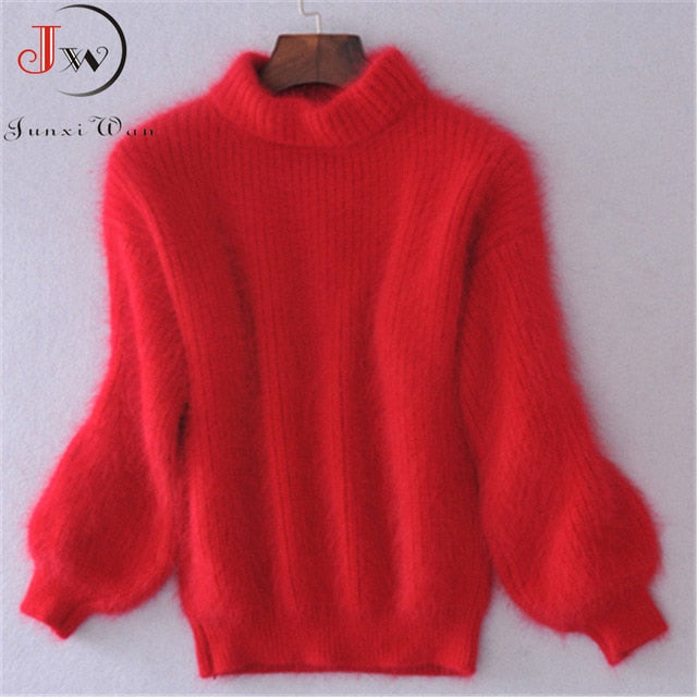 Mohair Thick Turtleneck Sweater(One Size)