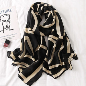 Fashion Print Cotton Viscose Scarf