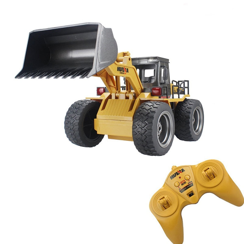 RC Truck 1/14 Wheel Shovel Loader 6CH 4WD Metal Remote Control Bulldozer Construction Vehicles For Kids Hobby Toys Gifts