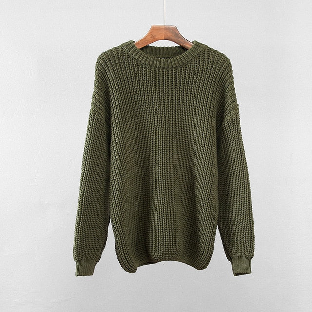 Loose Autumn Women Sweater(One Size)